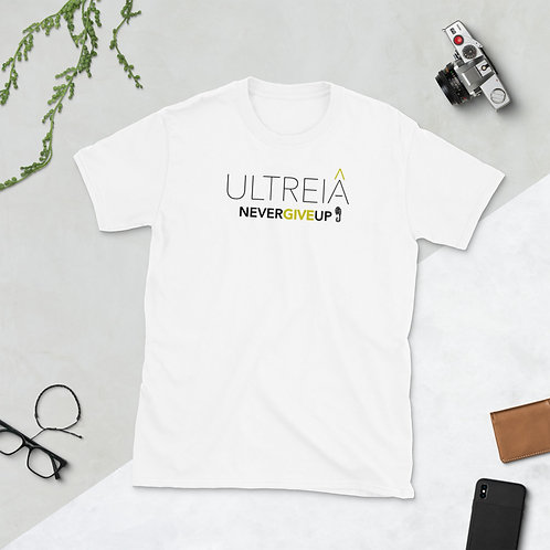 ULTREIA - NEVER GIVE UP - Unisex T-shirt  (Yellow logo)