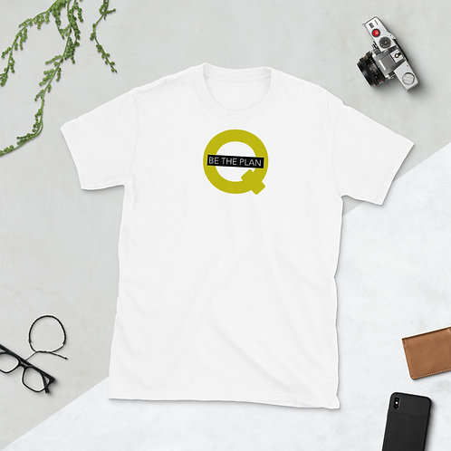 Q - BE THE PLAN - Unisex T-Shirt (Yellow logo)