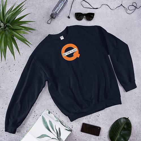 Q - BE THE PLAN - Unisex Sweatshirt (Orange logo)