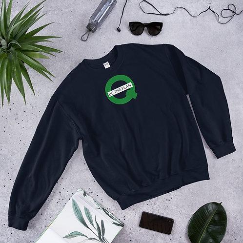 Q - BE THE PLAN - Unisex Sweatshirt (Green logo)