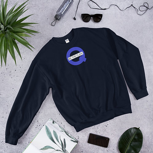 Q - BE THE PLAN - Unisex Sweatshirt (Blue logo)