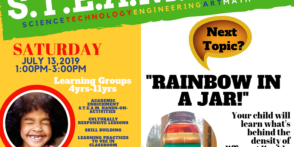 """SILE S.T.EA.M. DAY!  """"Rainbow In A Jar"""" Density!"""