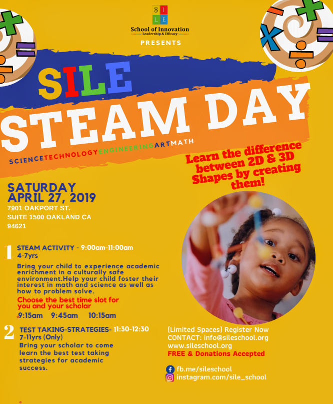 SILE S.T.E.A.M. DAY (April 27, 2019)