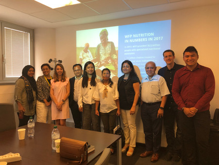 A day at the WFP Headquarters: Fellows gain insights about nutrition in conflict-ridden areas