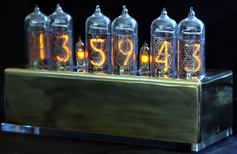 IN-14 clock in Brass base