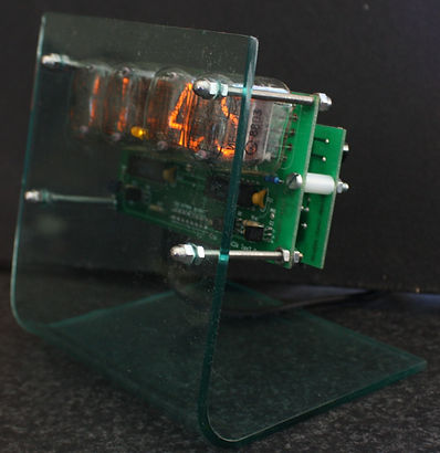 Modern deconstruct nixie clock