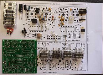 Nixie clock kit components