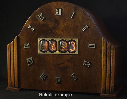 Nixie mantle clock