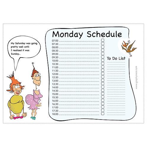 5009. Printable Monday Schedule