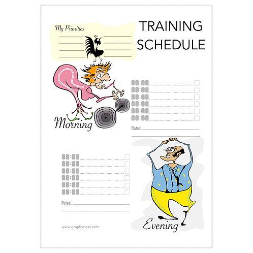 5005. Printable Training Schedule