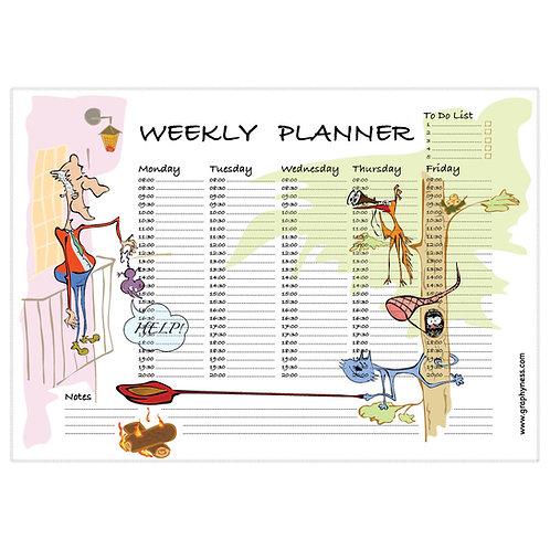 """5001. Printable Weekly Planner """"Help"""""""