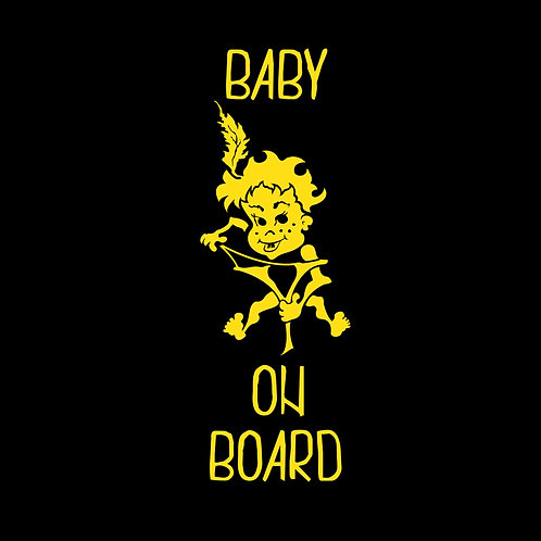 "4306. Window Sticker ""Baby On Board"""