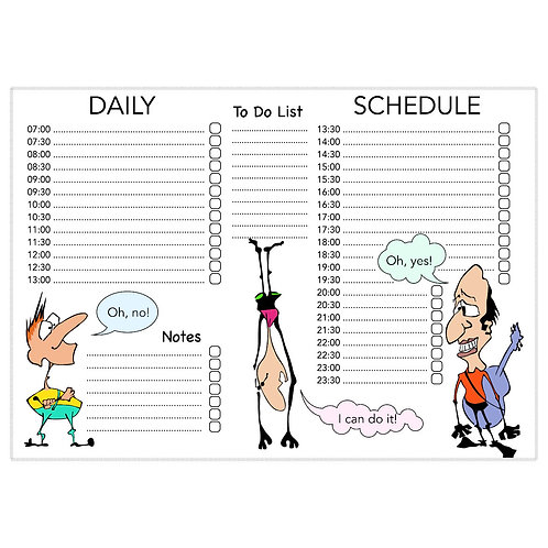 5010. Printable Daily Schedule