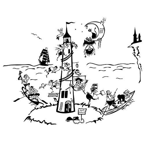 2010. A Night Lighthouse