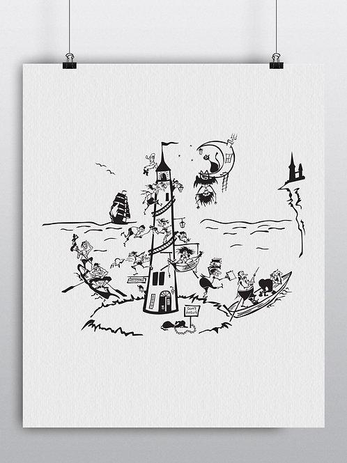 12010. A Night Lighthouse