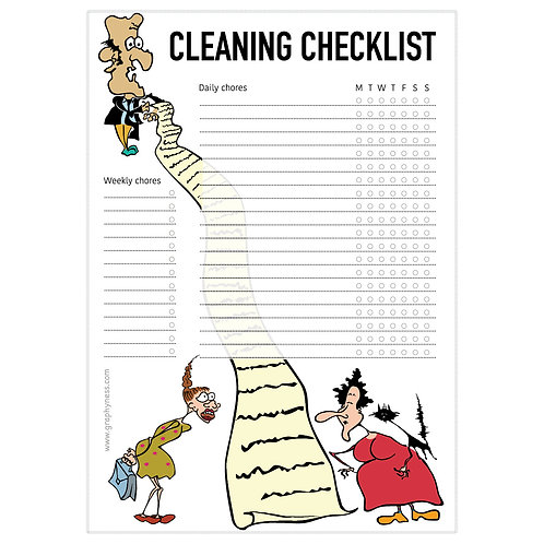 5008. Printable Cleaning Checklist