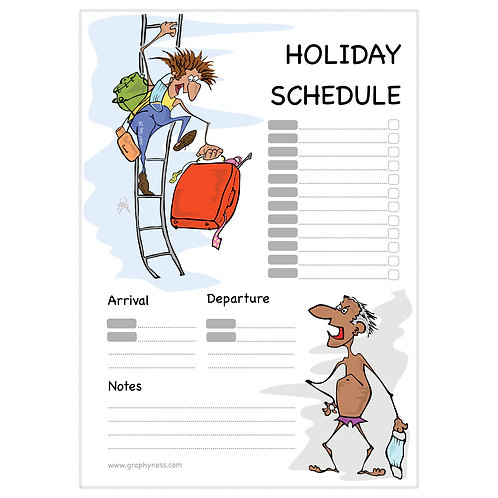 5006. Printable Holiday Schedule