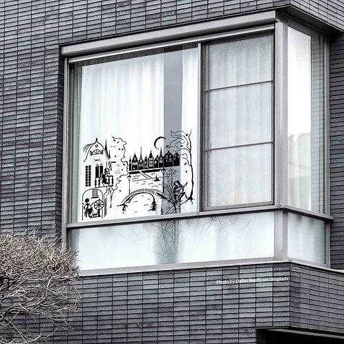 """4010. Window Sticker """"A Wandering Minstrel"""""""