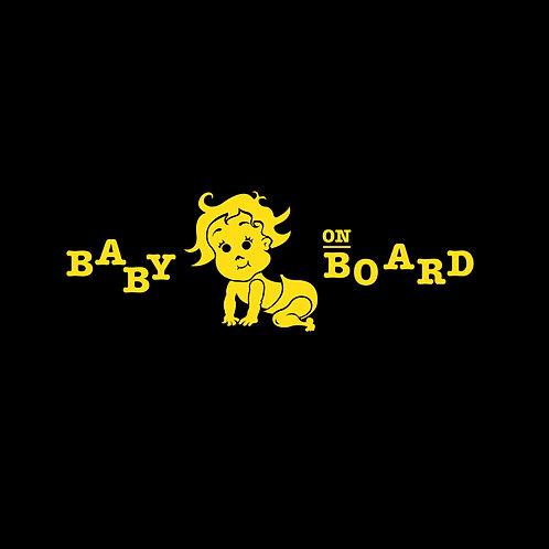 "4305. Car Sticker ""Baby On Board"""