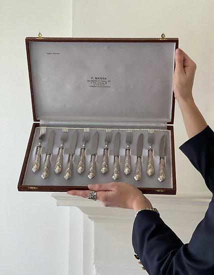 Silver Dessert Cutlery Set