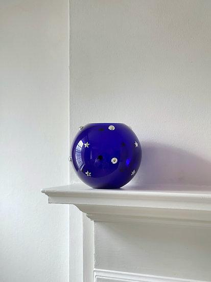 Cleto Munari Glass and Silver Vase