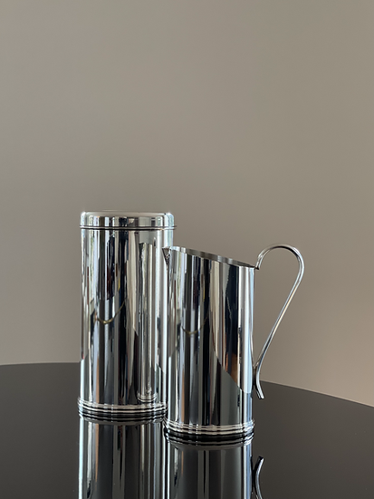 Silver-plated Jug and Wine Cooler Set