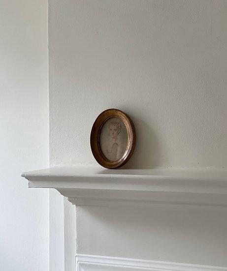 Antique Oval Portrait