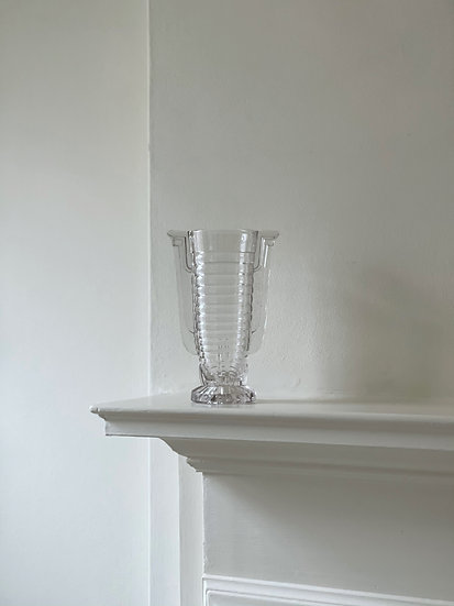 "Val Saint Lambert ""Marcelle"" Glass Vase"