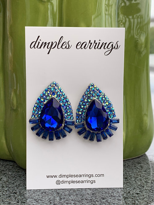 Blue Interview Earrings Pageants Australia Jewellery Dimples Earrings