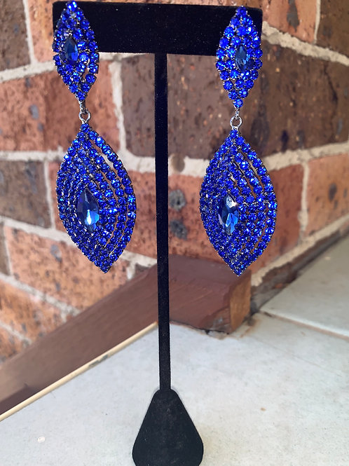 Pageant Earrings Royal Blue Jewellery Australia Dimples Earrings