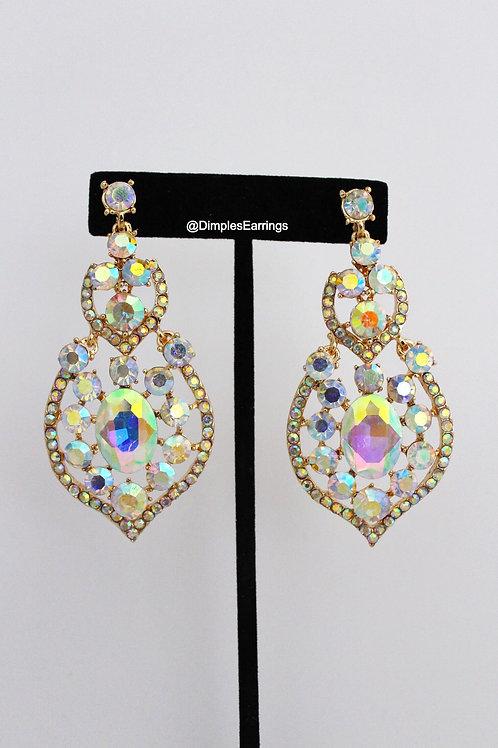 AB Crystal Chandelier Drop Earrings Pageant Formal Earrings Australia
