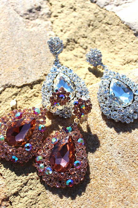 Dimples Earrings - Pageant and Formal Jewellery Australia