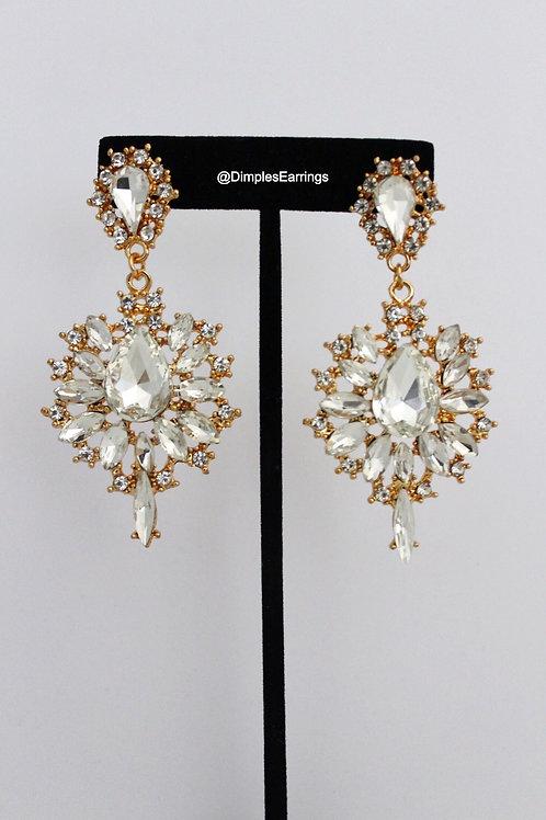 Silver Gold Drop Chandelier Earrings Formal Pageant Earrings Australia Dimples Earrings
