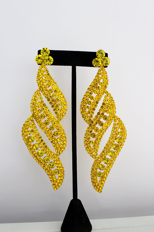 Yellow Dimples Pageant Earrings