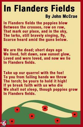 In Flanders Field Poem for Veterans Day