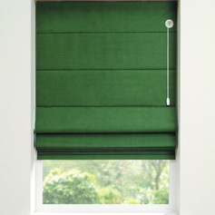 Green roman blind