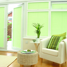 Green venetian perfect fit blinds