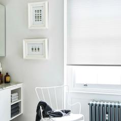White modern roller blinds