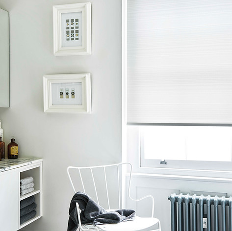 White modern roller blinds