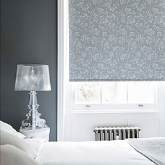 Dark gray roller blinds