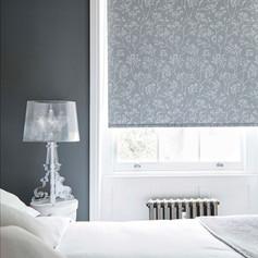 Dark gray roller blinds