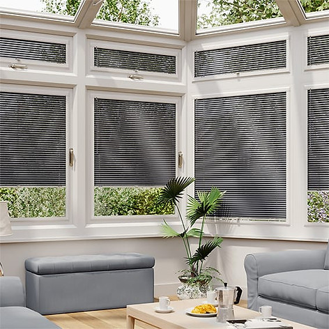 Gray perfect fit blinds