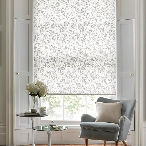 Light gray roller blind