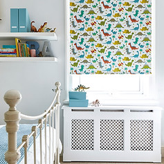 Dinosaur patterned roller blinds