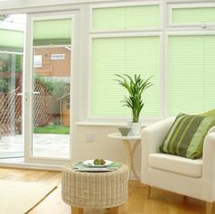 Green venetian perfect fit blinds