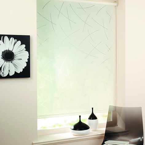 Light green roller blind