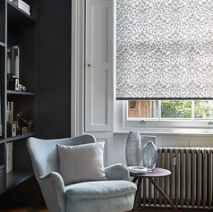 Light gray roller blinds