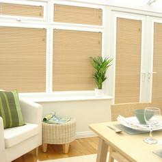 Light brown venetian perfect fit blinds