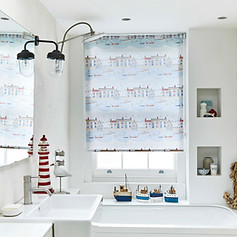 House pattern for bathroom roller blinds