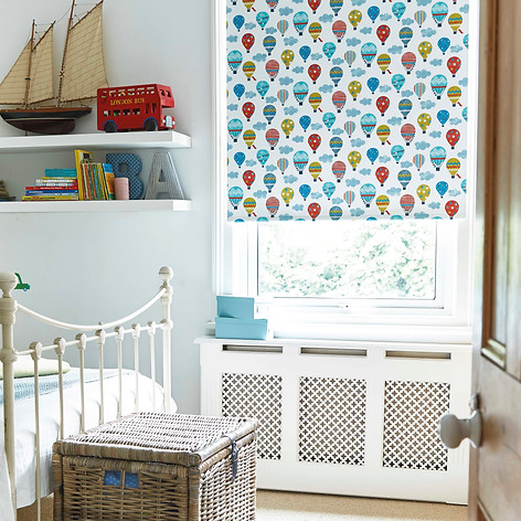 Coloured hot air baloon patterned roller blinds
